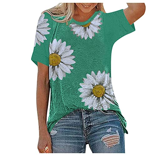 Blouse for Women Stand Collar Casual Long Sleeve Solid Color Shirt Button Down Loose Plus Size Tops Tunic Short Sleeve Casual Solid Color Loose Hem Tops A778 Green