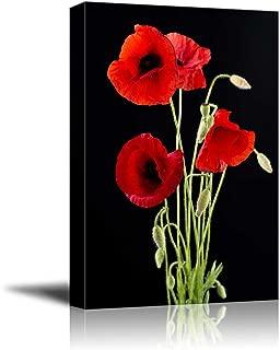 Best red flower canvas art Reviews