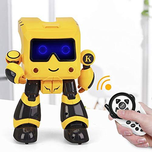DBXMFZW RC Robot Storage, Administración Financiera, Iluminación LED Educación Earra Puzzle RC Robot Programación Inteligente RC Robot Niños Educativos Juguetes Regalos para niños y niñas