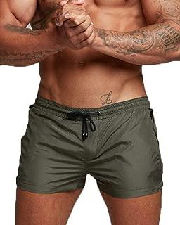 Cocobla Men's Beach Swimming Trunks Boxer Brief Swimsuit Swim Underwear Boardshorts with Pocket