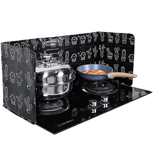 2 Pieces Anti Splatter Shield Guard Oil Splatter Screen Board Aluminum Foil Oil Block Oil Barrier for Kitchen Restaurant Use