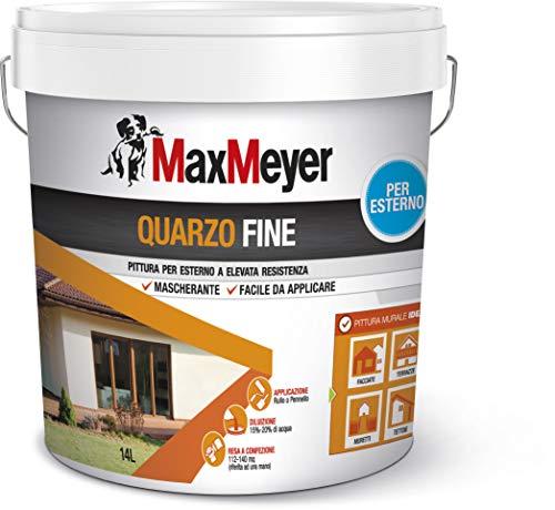 MaxMeyer Pittura per esterni Quarzo Fine BIANCO 14 L, 8-10 mq/litri