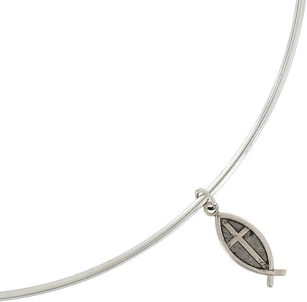 Ð¡harm - Jesus Fish Ichthys Charm Collar in Albuquerque Mall Made 15 Necklace USA Super intense SALE