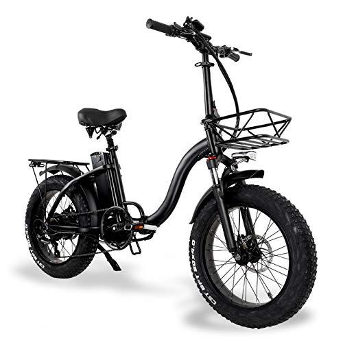 750W 15Ah Elektrofahrrad Damen Pendler Bike 20 Zoll Trekking E-Bike mit Fahrradkorb - 45km/h & 100km Reichweite - Elektro City Bike Geeignet für Frauen und ältere Menschen