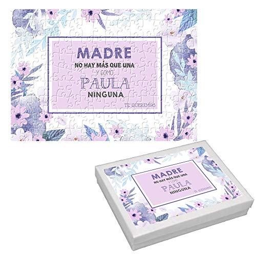 Puzzle Personalizado Fotos/Regalo Original Mamá/Incluye: Puzzle + Caja/Día de la Madre/Cumpleaños/Navidad/Aniversario/Mujer/Chica/Señora