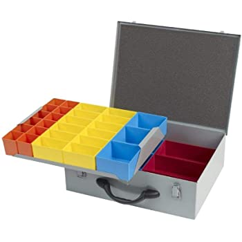 Organizador de tornillos de metal plateado para caja de ...