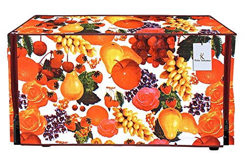 Kuber Industries Fruits Design PVC Microwave Oven Full Closure Cover for 23...