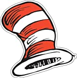 Eureka Dr. Seuss The Cat in the Hat Paper Cut Outs for Schools and Classrooms, 36pc, 5.5' W x 5.5' H