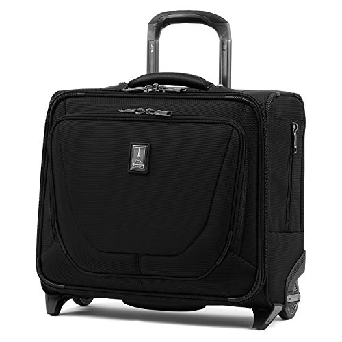 Travelpro Crew 11-Rolling Underseat Tote Carry-On Bag, Black, 16-Inch