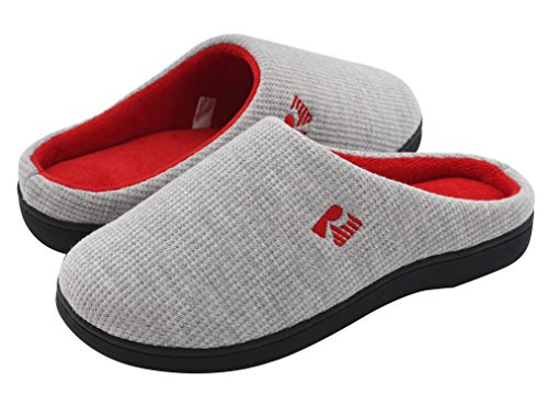 RockDove Two-Tone House Slippers for Women, Memory Foam Footbed w/ Indoor Outdoor Sole 7-8 B(M) US