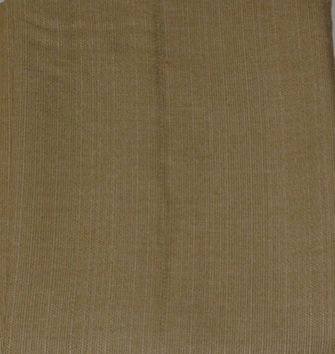NorthCrest Home Woven Thistle Gold Window Valance Flax Curtain Topper