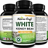 Natures Craft White Kidney Bean weight loss supplement for men and women Pure Carb Blocker Fat Burner Phase 2 Starch Inhibitor and Natural Appetite Suppressant helps manage blood sugar 60 Capsules