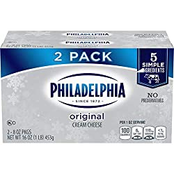 Philadelphia Cream Cheese Spread (8 oz Bricks, Pack of 2)