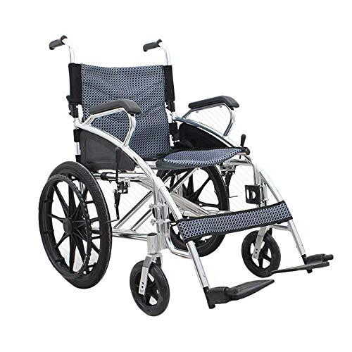 Y-L Elderly Disabled Draagbaar Aluminium Rolstoel Reisstoel Multiangle Aanpassing 3 Seconden Snel Vouwen