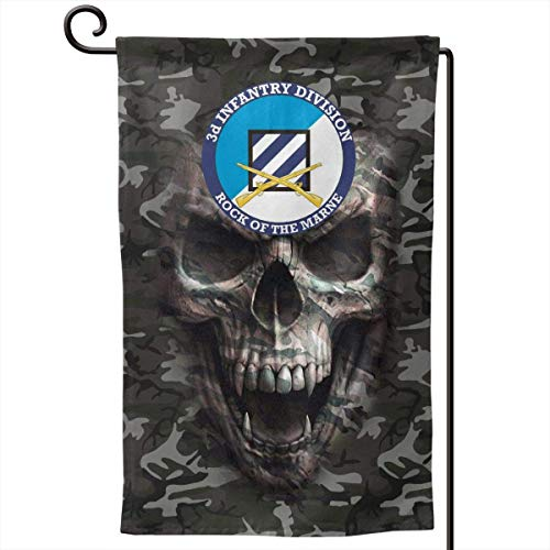 3rd Infantry Division with Rifles Army Green Camo Garden Flags 12' x 18' Outdoor Yard Flags