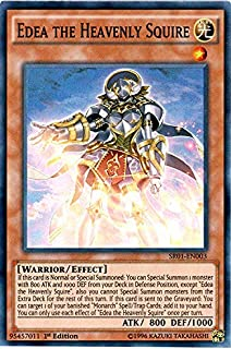 Yu-Gi-Oh! - Edea the Heavenly Squire (SR01-EN003) - Structure Deck: Emperor of Darkness - Edition - Super Rare