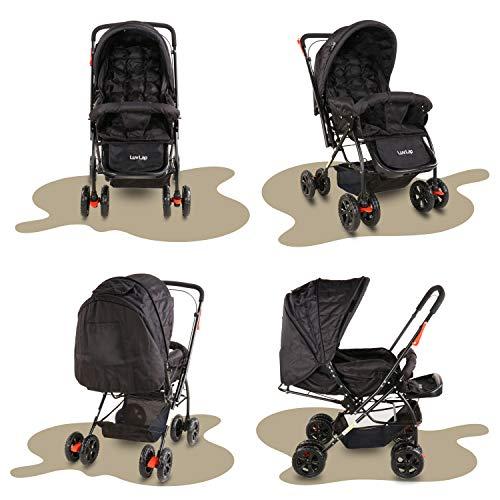 LuvLap Starshine Stroller/Pram, Easy Fold for Newborn Baby/Kids, 0-3 Years (Black) 4