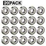 608ZZ Roulements à Billes, ABEC 7, 20PCS Speed Bearings Roulements à billes de qualité pour Roller, Skateboard, Longboard, Waveboard, 8 x 22 x 7mm