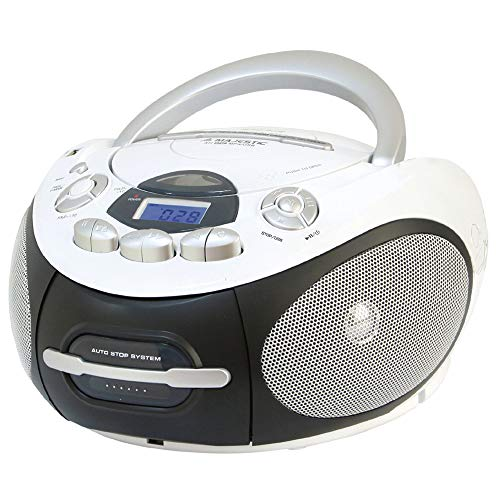 Majestic AH 2387R MP3 USB - Boom Box Portatile con Lettore CD/Mp3, Ingresso USB, Registratore...