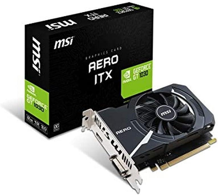 MSI GeForce GT 1030 Aero ITX 2GD4 OC - Tarjeta Gráfica Aero [Modelo Antiguo]