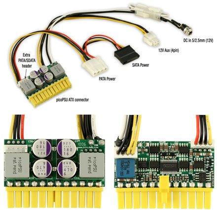 Ituner picoPSU-160-XT + 192W externes AC/DC Netzteil (Effizienz > 87% av.)