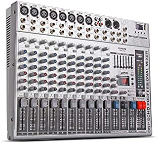 G-MARK GMX1200 Professional audio mixer micriophone console dj Music Studio 12 channels 8 mono 4 stereo 7 brand EQ 16 effect USB play