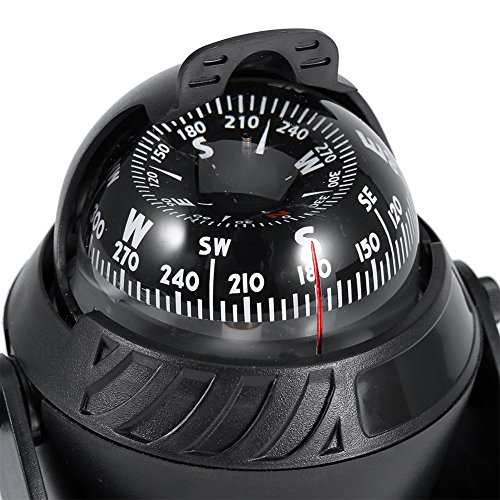 Zyyini Marine Pivoting Compass, High Precision LED Light Electronic Navigation Camping Compass