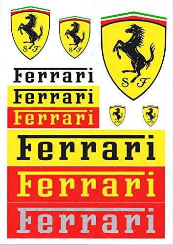 Ferrari Aufkleber, 11 Sticker im Set