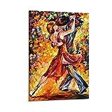 QIUPING Poster im Reim von Tango von Leonid Afremov, 50 x