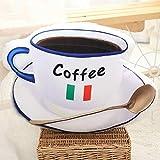 xiaoyuershop Kaffee Milch Plüschtiere 3D Simulation Lebensmittel Form Plüsch Kissen Gefüllte...