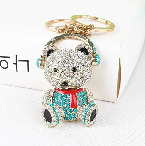 Gems Stenen Mode Auto Sleutelhanger Gadget Metalen Diamant Zodiac Leuke Panda Sleutelhanger Decoratie Auto Sleutels voor Sleutelhangers Bruiloft Accessori