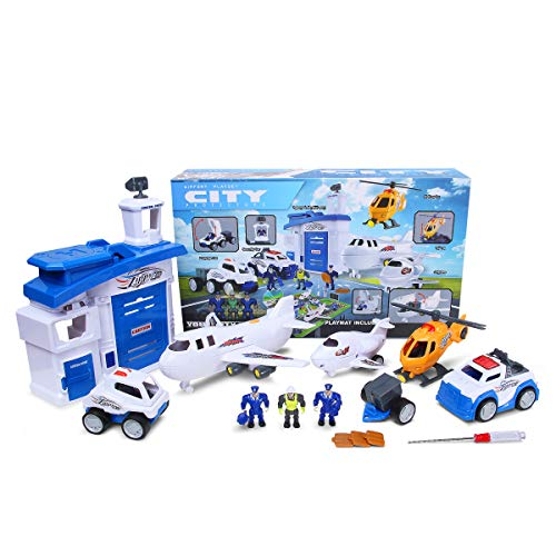 PUQU Future City Protector Airport Deluxe Playset $17.37 (49% Off)