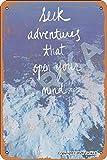 Lawenp Seek Adventures That Open Your Mind 20X30 cm Hojalata Decoración de Aspecto Retro Cartel Cartel para el hogar Cocina Baño Granja Jardín Garaje Citas Inspiradoras Decoración de la Pared