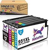 HaloFox 950XL 951XL Tinta Cartuchos de Compatibles con HP Officejet Pro 8610 8620 8600 Plus 8630 8615 Impresora todo en uno 8100 ePrinter 251dw 271dw 276dw Negro Magenta Cian Amarillo 4 paquete