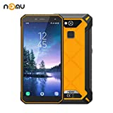 Nomu S50 Pro Outdoor Handy, IP68 International Entsperrt 5,72 Zoll FHD Android 8.1 4G LTE Dual-SIM 4G RAM 64 ROM 8,0MP + 16,0MP Dual-Kamera für Wandern Skiing X Sport (Orange)