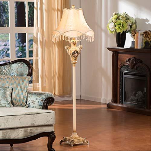 YISUNF Lámpara de pie Lámparas de pie, LED de lujo de estilo Lámpara de pie Europeo, Pintura princesa rural Marry Decoración aterrizaje baja luz creativa moderna lámpara de cabecera Eye-El cuidado de