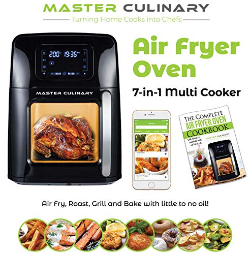 Air Fryer Oven A-1700 | 12 Quarts – Biggest in the Market! | 7 in 1 Cooker | Mobile App and Recipe Book Included | Super-Heated Air Technology | Modern Design, Very Quiet, 12 Preset Programs, 1700W, Extended One Year Warranty | 2020 Model | By TheMasterCulinary