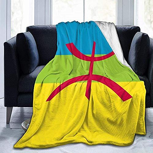 KL Decor Volwassenen Flanellen Dekens, Berber Vlag Duurzame Sofa Deken Voor Volwassenen Gradparents Binnen Buiten, 102x127cm