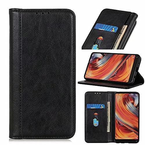 Funda para Samsung Galaxy A22 4G, a prueba de golpes, con función atril, ranura para tarjeta de crédito, cierre magnético, color negro