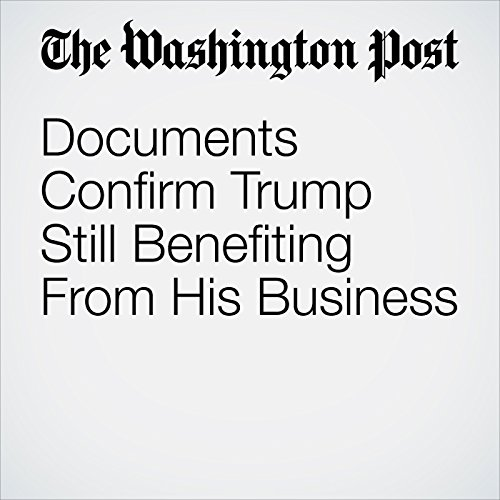 Documents Confirm Trump Still Benefiting From His Business copertina