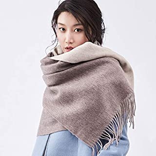 Ms. Asher Lamb Wool Double-Sided Color Wool Shawl Warm Autumn And Winter Scarves Scarf