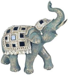 9 x 11.5 x 5 cm. CAPRILO Figura Decorativa India de Resina Elefante Adornos y Esculturas Decoraci/ón Hogar Regalos Originales Animales