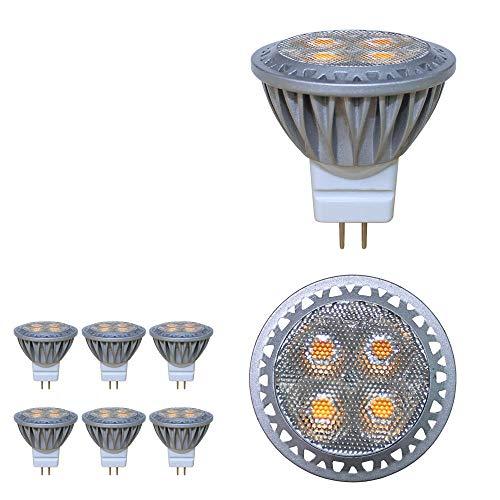 Baoming LED-Leuchtmittel, Typ MR11, GU4,Spot-Licht, 3W, 12Volt, superhell wie 35-Watt-Halogenlampe, 280 Lumen, 30-Grad-Abstrahlwinkel, 6000K, kaltweiß, 6er-Pack