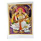 IB Bild Sarasvati Saraswati 50 x 70 cm Gottheit Hinduismus