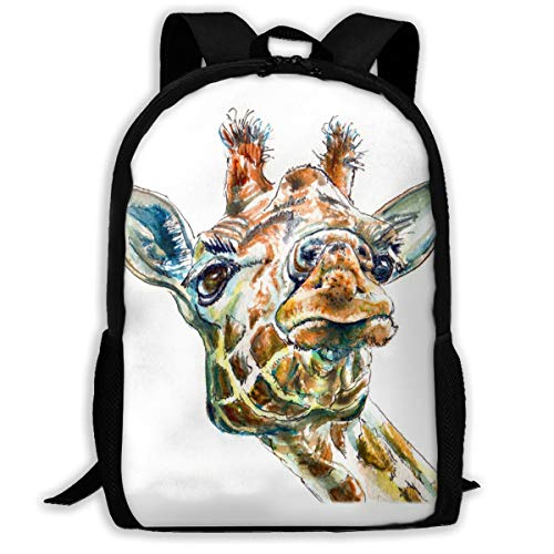 Funny Giraffe Backpack School Bag, 3d Print Lightweight Bookbag Travel Daypack For Boys & Girls