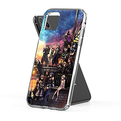 Kingdom Hearts 3 Fundas para teléfono Pure Clear TPU para iPhone Samsung Xiaomi Redmi Note 10 Pro/Note 9/8/9A/Poco M3 Pro/Poco X3 Pro Funda