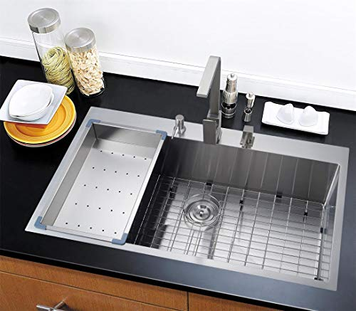 36 Inch One Bowl Drop in Kitchen Sink -stainless Steel
