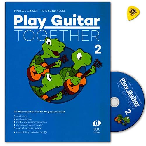 Play Guitar Together Band 2 - Die Gitarrenschule für den Gruppenunterricht mit CD, Dunlop Plek - Edition Dux D3506 9783868492637