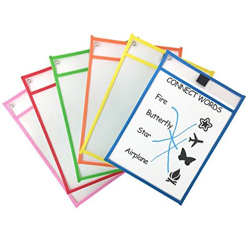 Clipco - Fundas de varios colores de borrado en seco (pack de 6)