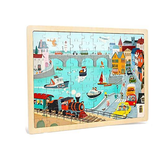 Yifuty Weisheit Holz Puzzle Kinder Intelligenz Entwicklung Spielzeug Puzzle Jungen und Mädchen 3-6 Jahre Alter Kindergarten Puzzle 300 * 400mm